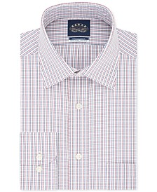 Men's Classic/Regular Fit Non-Iron Stretch Collar Check Dress Shirt