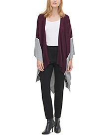 Colorblocked Open-Front Cardigan