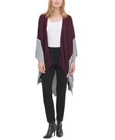 Calvin Klein Colorblocked Open-Front Cardigan