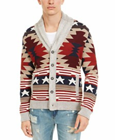 American Rag Men's Southwestern Cardigan, Created For Macy's