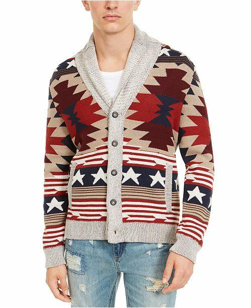 American Rag Men's Southwestern Cardigan, Created For Macy's