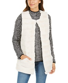 I.N.C. Quilted Faux-Fur Duster, Created For Macy's