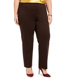 Kasper Plus Size Slim-Leg Pants