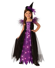 BuySeasons Little and Big Girl's Fancy Witch Child Costume