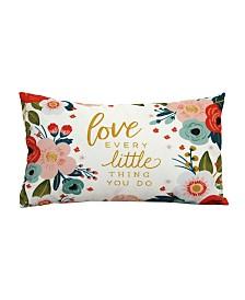 Stratton Home Decor Love Every Lumbar Pillow
