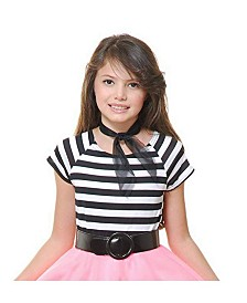 BuySeasons Girl's 50's Short Sleeve Top Child Costume