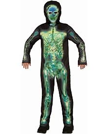 BuySeasons Boy's Radioactive Skeleton Child Costume
