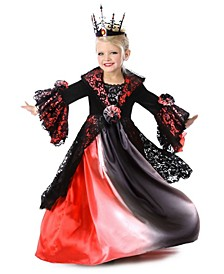 Little and Big Girl's Valentina the Vampire Child Costume