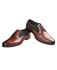 Men's Handmade Leather and Suede Derby Shoe