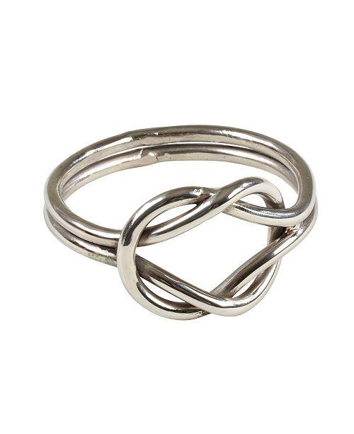 Saro Lifestyle Knot Table Napkin Ring, Set of 4
