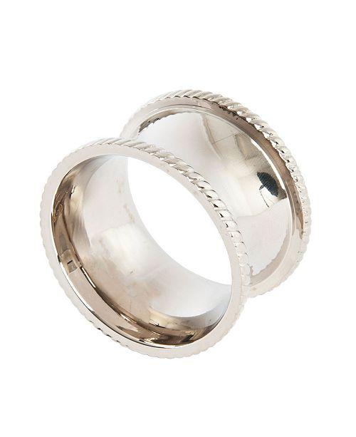 Saro Lifestyle Round Shape Napkin Ring, Set of 4