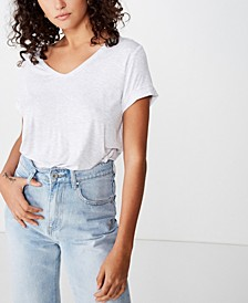 Karly Short Sleeve V Neck Top