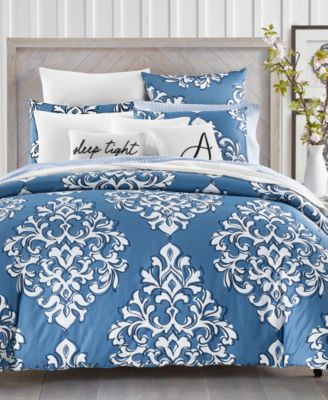 Outline Damask 300-Thread Count 2-Pc. Twin Comforter Set, Created for Macy's