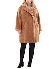 Plus Size Faux-Fur Teddy Coat