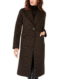 Tahari Leopard-Print Walker Coat