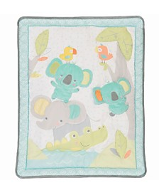 Baby's First by Nemcor 3-Piece Jungle Chatter Crib Bedding Set