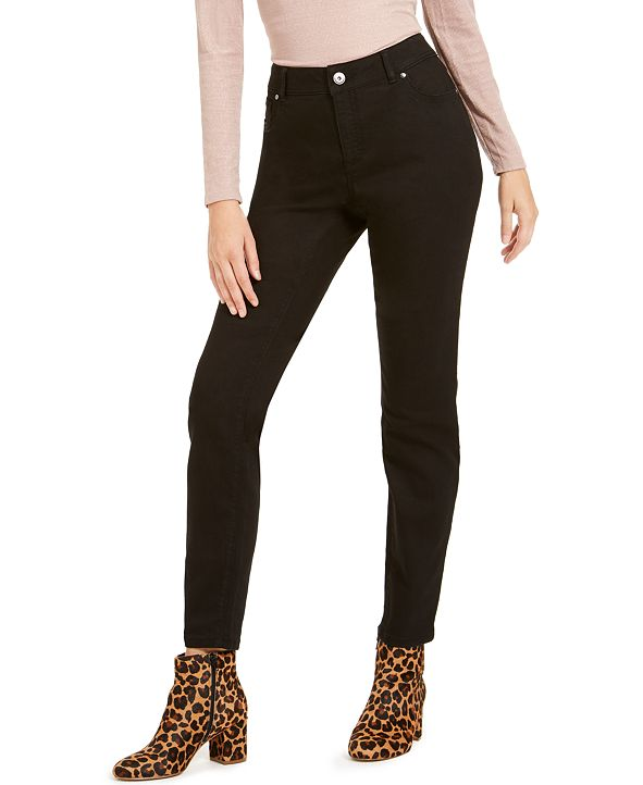 INC International Concepts INC INCEssential Curvy-Fit Skinny Jeans with Tummy Control, Created for Macy's