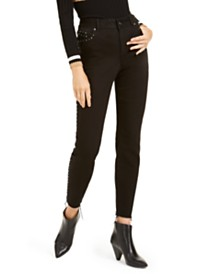 I.N.C. Studded Curvy Skinny Jeans, Created For Macy's
