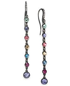 INC Hematite-Tone Multicolor Crystal Linear Drop Earrings, Created For Macy's