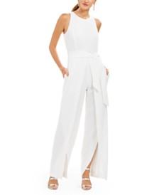 I.N.C. Belted Flyaway-Leg Jumpsuit, Created For Macy's