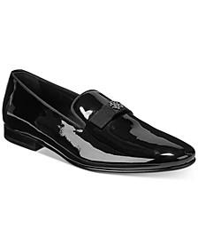 Men's Bow Tie Patent Slip-On Shoes