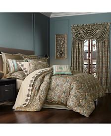 Victoria   Turquoise Turquoise California King 4pc. Comforter Set