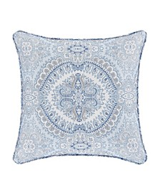 "Claremont Blue 16"" Square Decorative Throw Pillow"