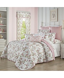 Rosemary Rose Full/Queen 3pc. Quilt Set