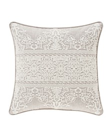 "Lauralynn Beige 20"" Square Decorative Throw Pillow"