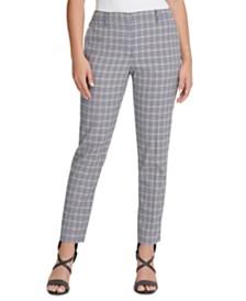 DKNY Petite Plaid Pants