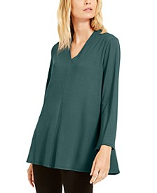 V-Neck Flared Top