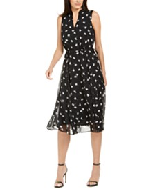Anne Klein Tess Printed A-Line Dress