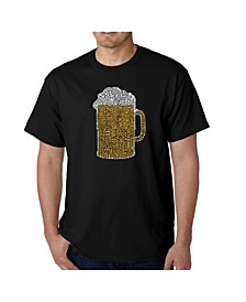 Men's Word Art T-Shirt - Slang Terms For Being Wasted