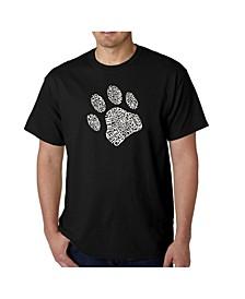 Men's Word Art T-Shirt - Dog Paw