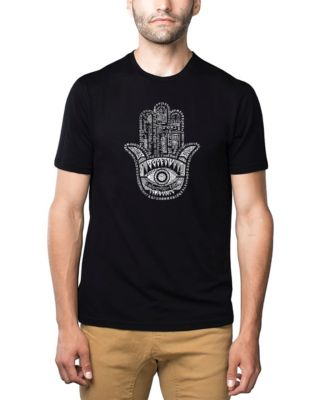 LA Pop Art Girls Long Sleeve Word Art T-Shirt Hamsa