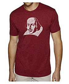 Men's Premium Word Art T-Shirt - Shakespeare