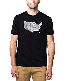 Men's Word Art T-Shirt - The Star Spangled Banner