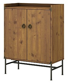 Kathy Ireland Home by Bush Furniture Ironworks Storage Cabinet with Doors