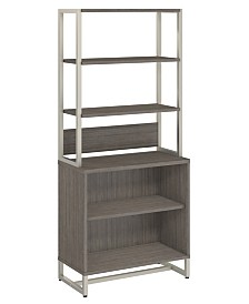 Kathy Ireland Office by Bush Furniture Method Bookcase with Hutch