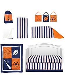 Pam Grace Creations Vintage Like Sports 10 Piece Crib Bedding Set
