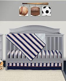 Pam Grace Creations Vintage Like Sports 3 Piece Crib Bedding Set
