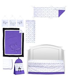 Pam Grace Creations Butterflies and Dragonflies 10 Piece Crib Bedding Set