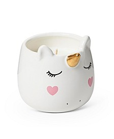 Unicorn ceramic candle