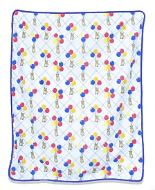Pam Grace Creations Bears and Balloons Reversible Chenille Dot Baby Blanket