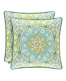 "Avalon Green 18"" Square Decorative Throw Pillow"