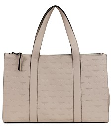 T Tahari Logo Leather Tote