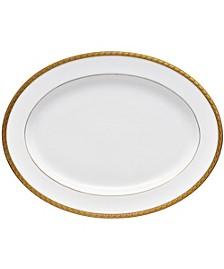 """Charlotta Gold Oval Platter 16"""""""
