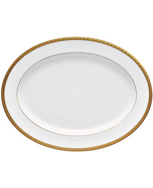 """Noritake Charlotta Gold Oval Platter 16"""""""