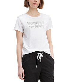 Women's Cotton The Perfect Tee Sequin Graphic T-Shirt