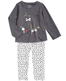 Toddler Girls Squirrel T-Shirt & Animal-Print Leggings, Created For Macy's